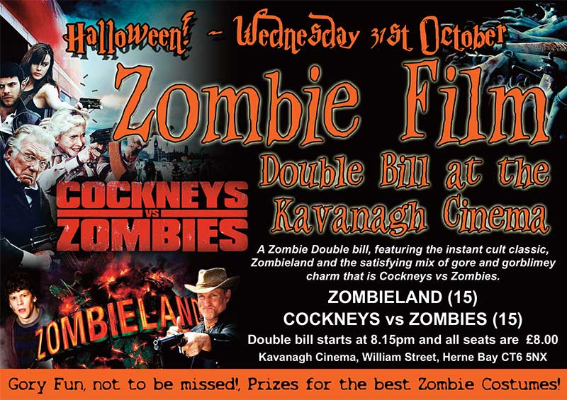 Zombie Crawl Film Night at The Kavanagh Cinema, Herne Bay - Zombie Films